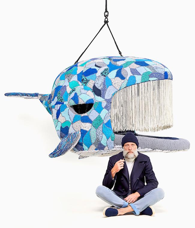Endangered系列造型椅 编织技艺打造疗愈野生动物椅