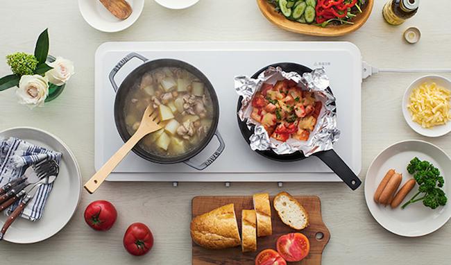 Panasonic IH 双口电磁炉 餐桌变厨房成料理神器