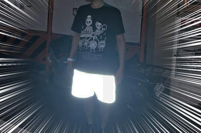 SOULLAND反光短裤 夜晚行走反光效果强大