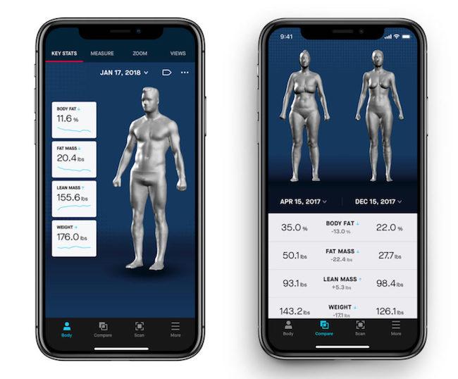 智慧型全身镜Naked 科技魔镜准确追踪你的身形与体脂
