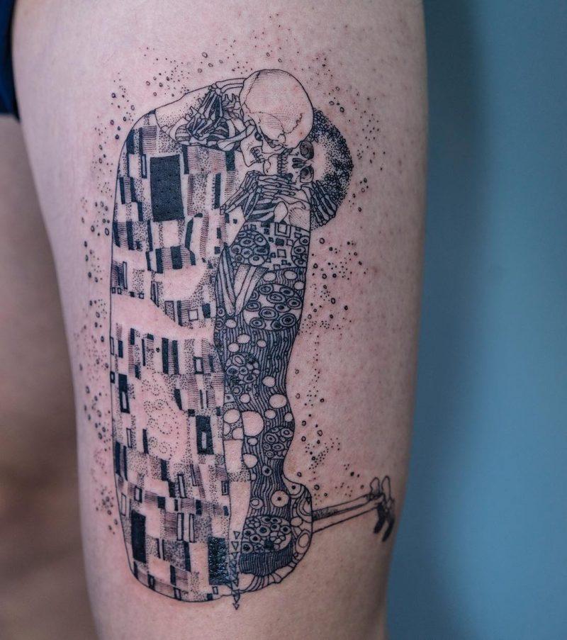 纹身艺术家吴金妍的黑白纹身图案 奇特设计令人毛骨悚然