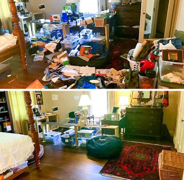 清洁前后对比图片 清扫后照片令人心旷神怡