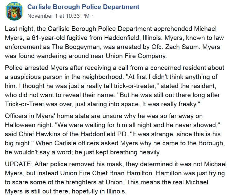 杀人狂魔麦克尔·麦尔斯被抓了吗 消防队长Cosplay杀人魔王