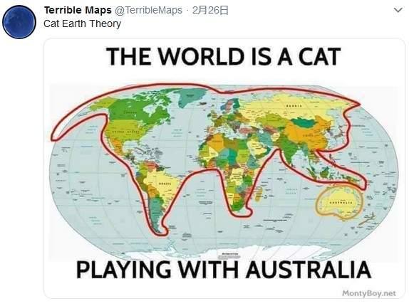 """世界地图引出的发现 """"怖世界地图""""秒变搞笑梗图"""