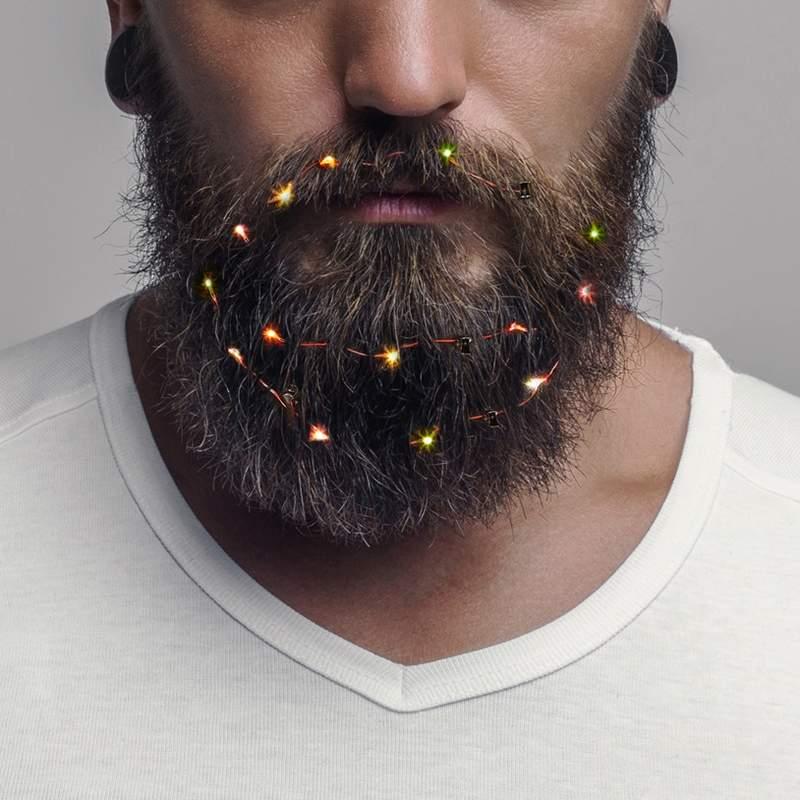 圣诞节另类装扮胡子灯 行走的圣诞树让男人瞬间萌化