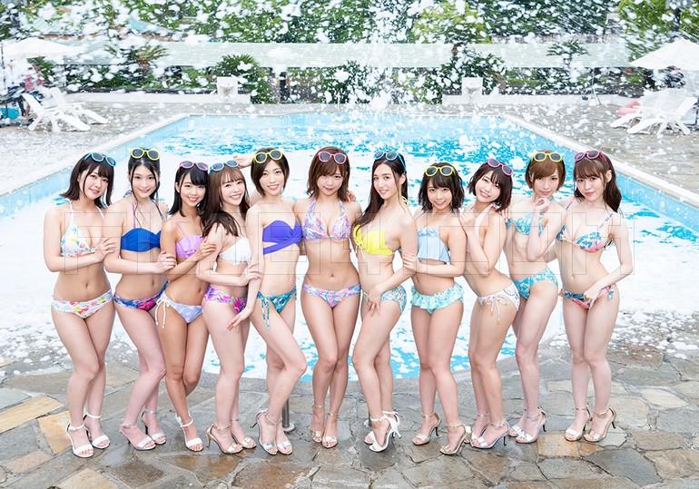 SOD复仇者联盟!梦幻11女优豪华共演泡泡趴!
