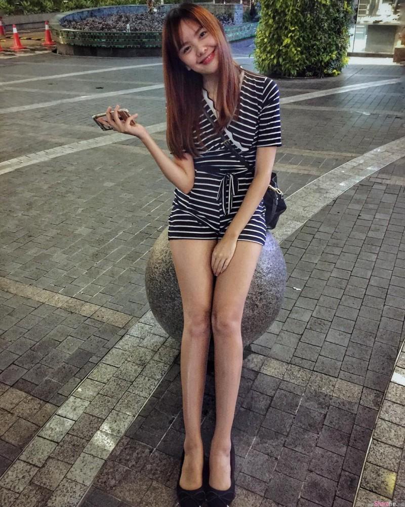 大马甜美正妹邢慧Alisia 逆天大长腿十分性感