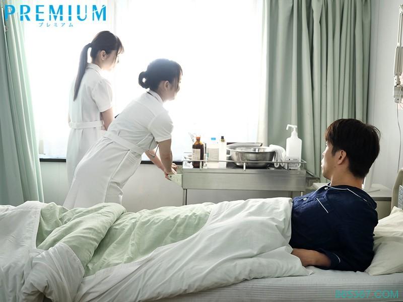 PRED-260:淫浪护士波多野结衣和仓多まお专挑病患搞 3P !