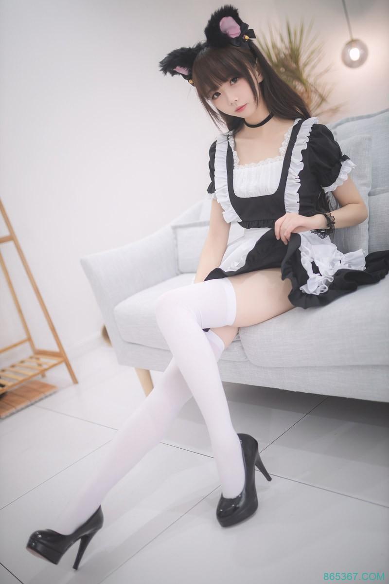 「cosplay 福利」可爱的猫耳白丝女仆[30P]